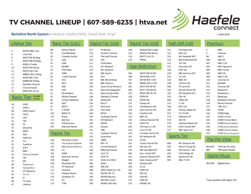 Channel Guides by Area | Local Internet Providers, Enfield